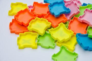 puzzle colour plastic