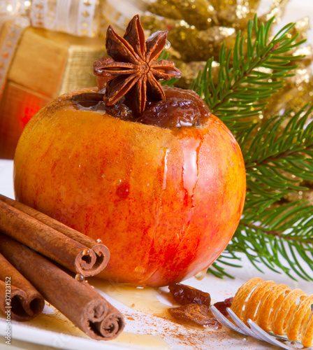Weihnachten,Bratapfel
