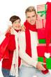 weihnachtseinkäufe mann und frau