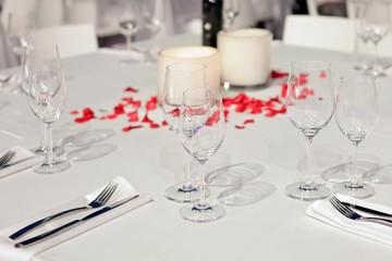 wedding table served