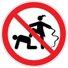 Peitschen verboten