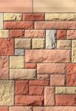 Sandsteinwand gestrichen vertikal