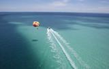 resort activity tropical parasailing