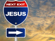 Jesus road sign