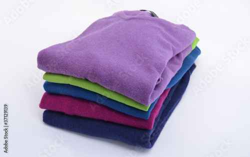 Stack of cashmere sweaters