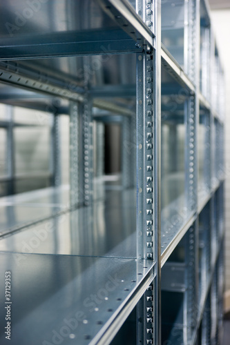 shelves of a rack lineup