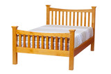 Fototapety Double bed isolated over white. With clipping path.