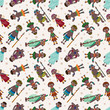 cartoon Africa Indigenous seamless pattern