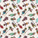 cartoon Africa Indigenous seamless pattern