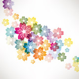 abstract background with flower - 37134940