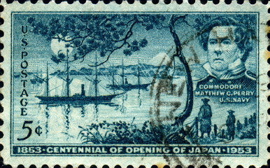Opening of Japan. 1853. US Postage.