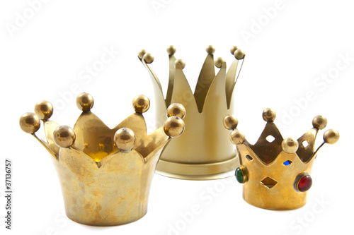 Leinwandbild Motiv Three golden crowns