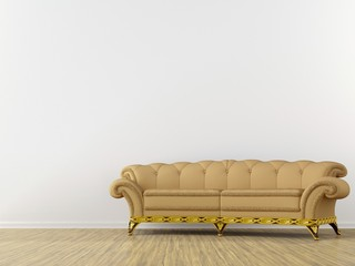 classic sofa yellow