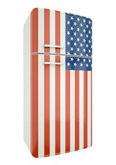 US flag fridge