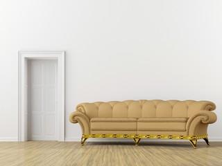 sofa with door