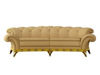 yellow sofa isolated
