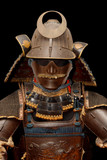 Image of samurai armour on black