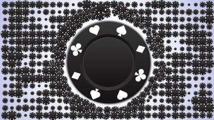 Black Chips Speech Balloon Background LOOP - HD1080