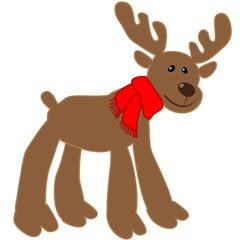 Merry Christmas Rudolph freigestellt
