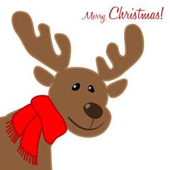 Merry Christmas Rudolph Porträt