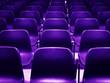 empty purple chairs