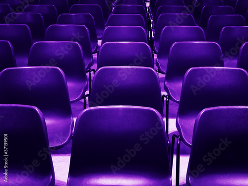 empty purple chairs