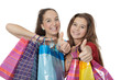 Deux adolescentes Ok pour le shopping