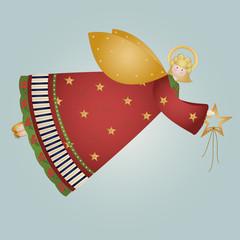 buone feste - angelo biondo con stella