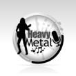 bouton heavy métal
