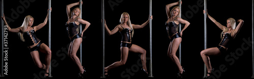 Beautiful sexy girl pole dancing