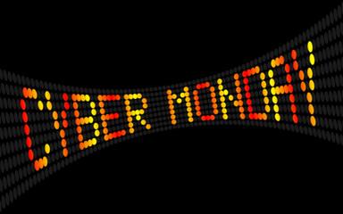 led lauftext cyber monday I