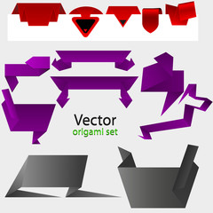 vector origami paper for your design