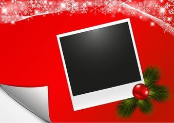 Cartolina Natale con polaroid