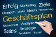 Geschäftsplan - Business Konzept