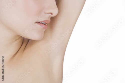 A young woman's armpit, close-up