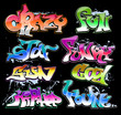 Graffiti Hip-hop vector