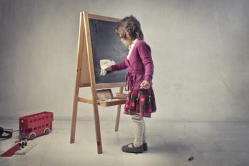 Clean the blackboard