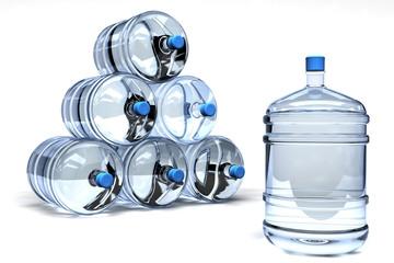 garrafas de agua embotellada