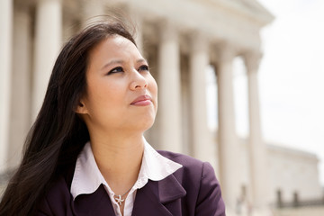 Asian business woman at Supreme Court