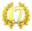 seventeen number laurel wreath