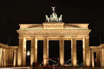 illuminated Brandenburg Gate of Berlin