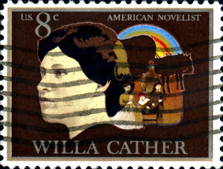 Willa Cather. American Novelist. US Postage.