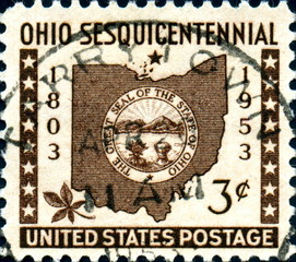 Ohio. The great seal of the state. 1803. US Postage.