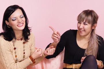 girls on pink