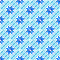 Seamless winter pattern like handmade cross-stitch