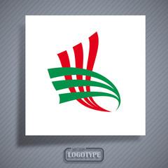 Logo bandiera italiana # Vector