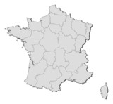 Fototapety Map of France