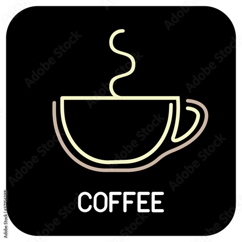 Cup of Coffee - isolated vector icon