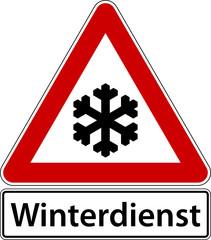 Winterdienst Schild Verkehrszeichen Frost Winter