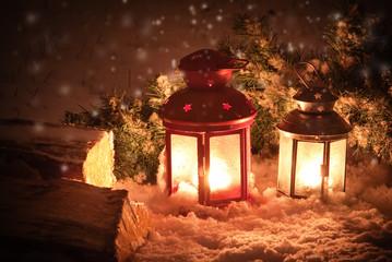 Lanterns and snow - Lanterne e neve